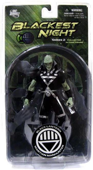 DC Green Lantern Blackest Night Series 2 Black Lantern Martian Manhunter Action Figure