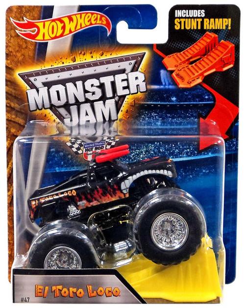 Hot Wheels Monster Jam El Toro Loco Die-Cast Car [Black, Stunt Ramp]