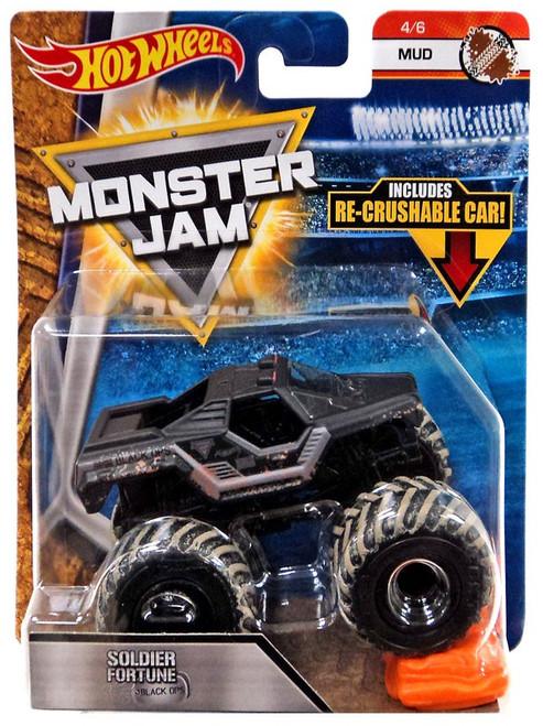 Hot Wheels Monster Jam Soldier Fortune Black Ops Diecast Car #4/6 [Mud]