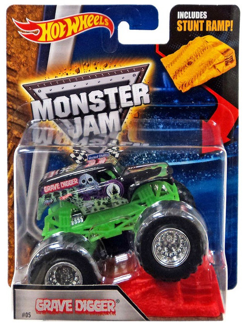Hot Wheels Monster Jam Grave Digger Diecast Car #05 [Black, Stunt Ramp]