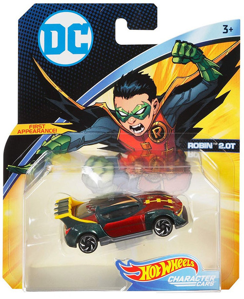 Hot Wheels DC Character Cars Robin 2.0T Die-Cast Car [Version 1]
