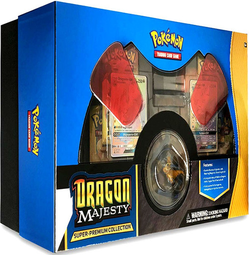 Pokemon Trading Card Game Dragon Majesty Super Premium Collection [10 Booster Packs, Figure, 2 Promo Cards & More]