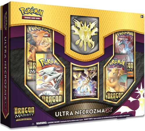 Pokemon Trading Card Game Dragon Majesty Ultra Necrozma GX Figure Collection [4 Booster Packs, Figure & Promo Card]