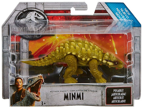 Jurassic World Fallen Kingdom Attack Pack Minmi Action Figure [Green]