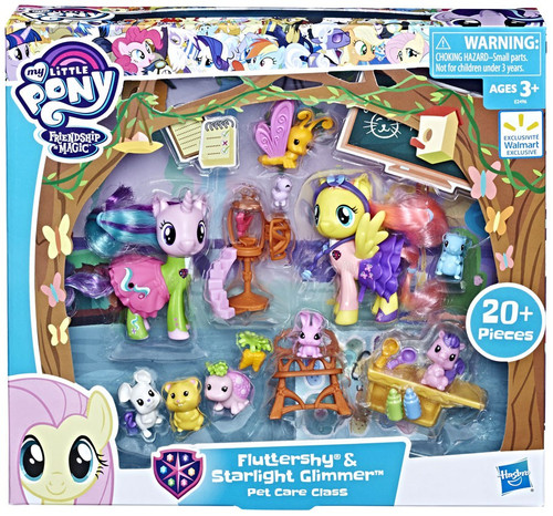 My Little Pony Fluttershy & Starlight Glimmer Pet Care Class Exclusive Figure Set