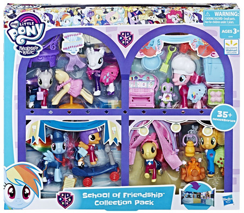 My Little Pony School of Friendship Exclusive Collection Pack [Mane 6, Students & 35 Accessories!]