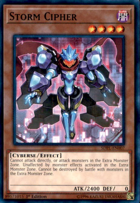 YuGiOh Powercode Link Structure Deck Common Storm Cipher SDPL-EN007