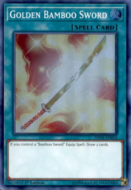 YuGiOh Shadows over Valhalla Super Rare Golden Bamboo Sword SHVA-EN054