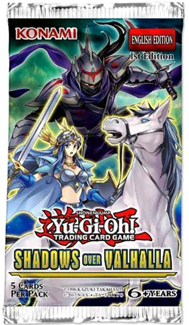 YuGiOh Trading Card Game Shadows Over Valhalla Booster Pack [5 Cards]