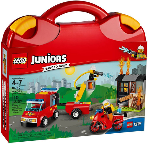 LEGO Juniors City Fire Patrol Suitcase Set #10740