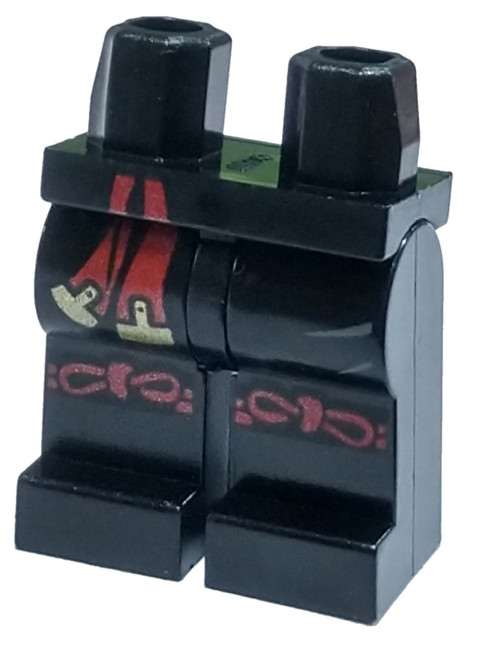 LEGO Black With Red and Gold Sash and Red Knotted Knee Straps Loose Legs [Loose]