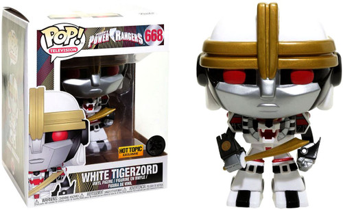 Funko Power Rangers POP! TV White Tigerzord Exclusive 6-Inch Vinyl Figure #668 [Super-Sized]