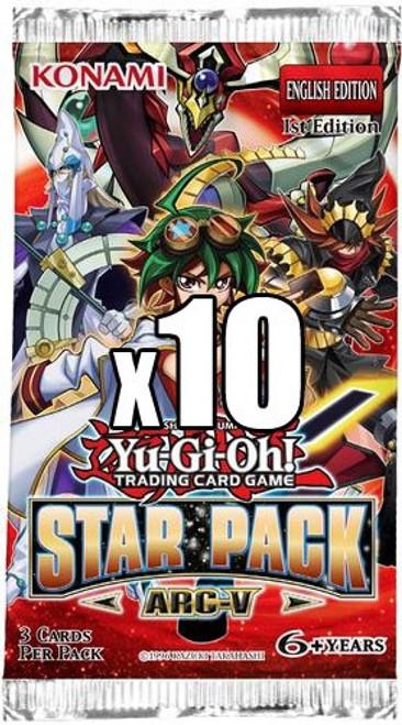 YuGiOh Trading Card Game Star Pack ARC-V LOT of 10 Booster Packs