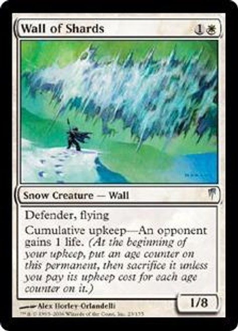 MtG Coldsnap Uncommon Wall of Shards #23