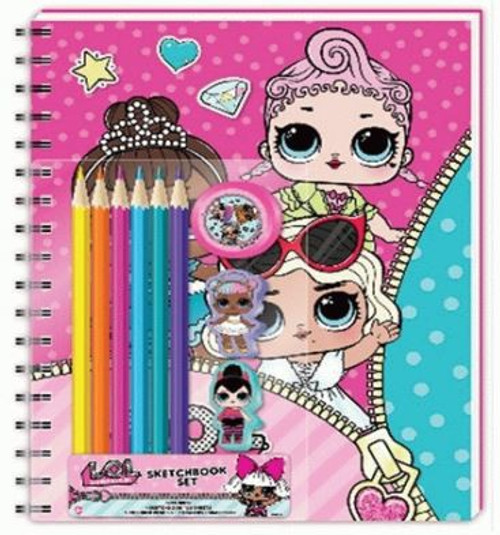 LOL Surprise Sketch Book Set with Colored Pencils Kit