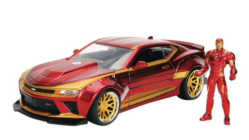 Marvel Iron Man & 2016 Camaro Diecast Vehicle & Action Figure
