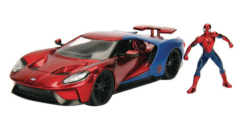 Marvel Spider-Man & 2017 Ford GT Diecast Vehicle & Action Figure