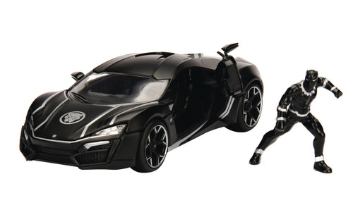 Marvel Black Panther & Lykan Hypersport Diecast Vehicle & Action Figure