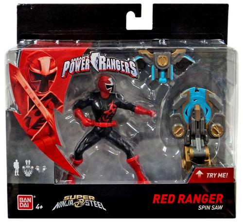 Power Rangers Super Ninja Steel Red Ranger Action Figure [Spin Saw]