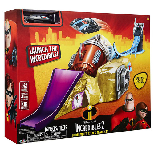 Disney / Pixar Incredibles 2 Underminer Attack Track Set