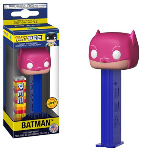 Funko DC POP! PEZ Batman Candy Dispenser [Pink Cowl, Chase Version]