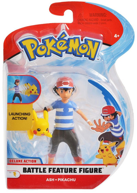 Pokemon Battle Feature Ash & Pikachu Action Figure