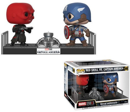 Funko POP! Marvel Captain America vs. Red Skull Vinyl Figure 2-Pack #389 [Movie Moments]