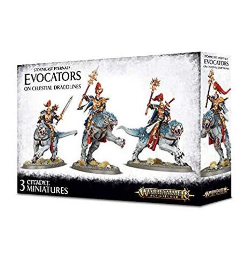 Warhammer Age of Sigmar Grand Alliance Order Stormcast Eternals Evocators On Celestial Dracolines