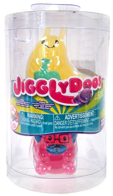 JigglyDoos Series 2 Yellow Slug & Pink Dog Squeeze Toy 2-Pack
