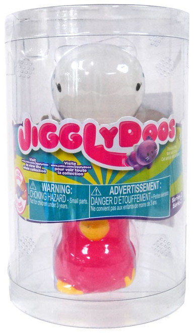 JigglyDoos Series 2 White Whale & Pink Chick Squeeze Toy 2-Pack