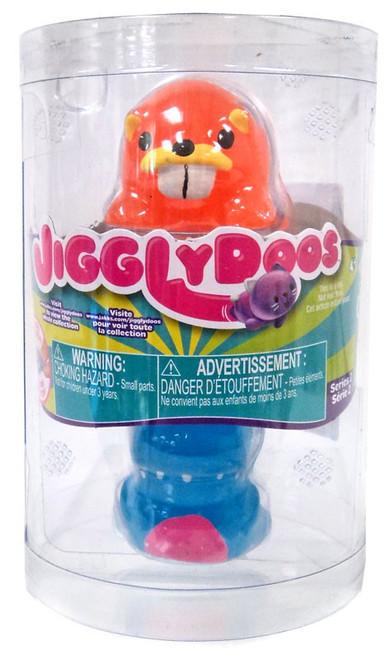 JigglyDoos Series 2 Orange Beaver & Blue Dinosaur Squeeze Toy 2-Pack