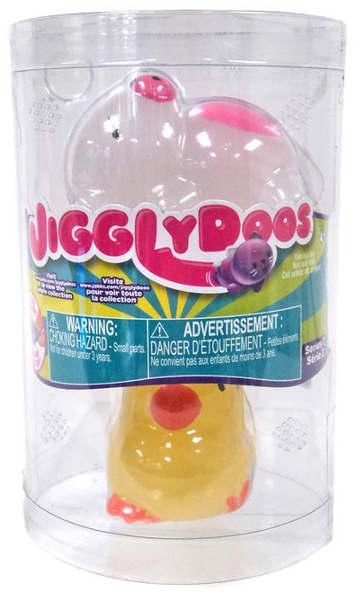 JigglyDoos Series 2 White Bear & Yellow Chick Squeeze Toy 2-Pack
