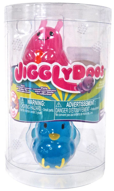 JigglyDoos Series 2 Pink Slug & Blue Turkey Squeeze Toy 2-Pack
