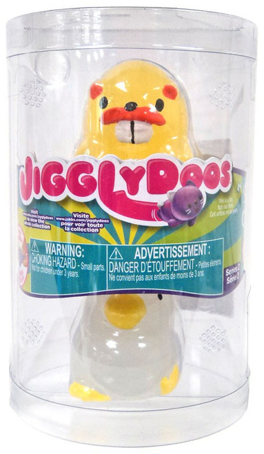 JigglyDoos Series 2 Yellow Beaver & White Chick Squeeze Toy 2-Pack