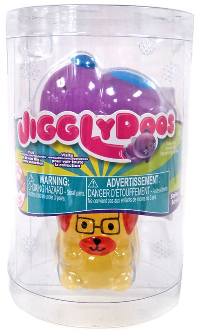 JigglyDoos Series 2 Purple Bear & Yellow Dog Squeeze Toy 2-Pack