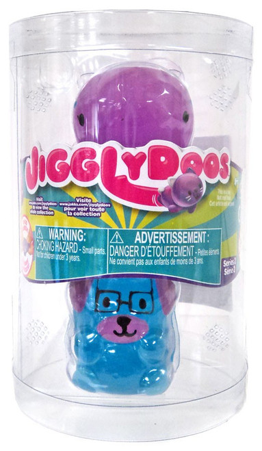 JigglyDoos Series 2 Purple Whale & Blue Dog Squeeze Toy 2-Pack
