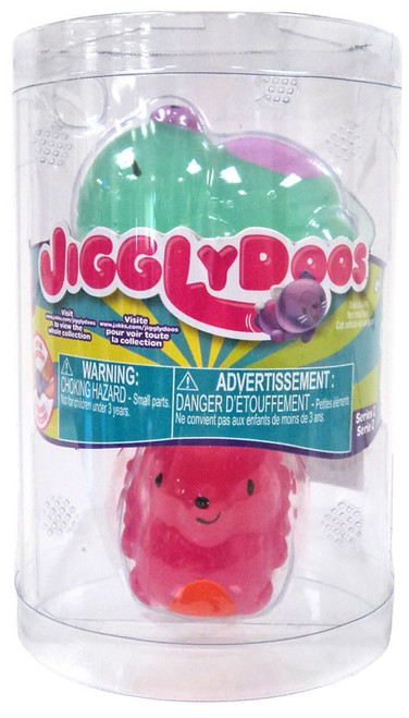 JigglyDoos Series 2 Green Bear & Pink Hedgehog Squeeze Toy 2-Pack