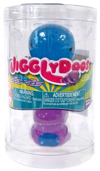 JigglyDoos Series 2 Blue Whale & Purple Dinosaur Squeeze Toy 2-Pack