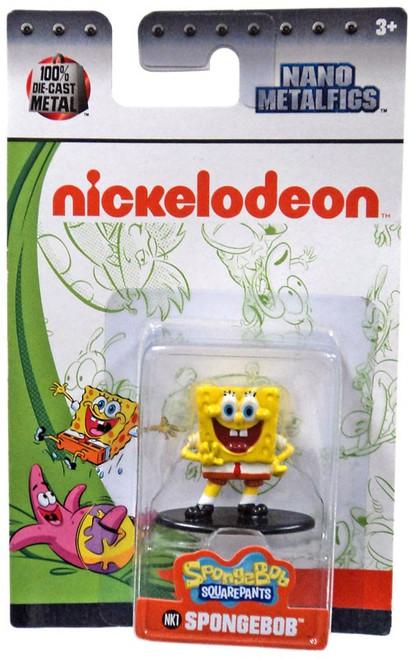 Nickelodeon Spongebob Squarepants Nano Metalfigs Spongebob 1.5-Inch Diecast Figure NK1 [Smiling]