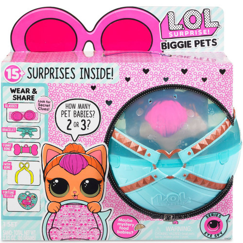 LOL Surprise Series 4 Eye Spy Pets Neon Kitty Exclusive Biggie Pets