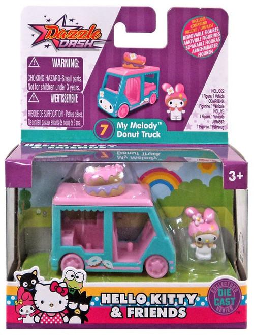 Hello Kitty Dazzle Dash My Melody Donut Truck Diecast Vehicle