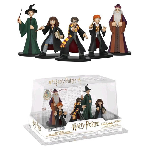 Funko Hero World Series 7 Harry Potter, Ron Weasley, Hermione Granger, Albus Dumbledore & Minerva McGonagall Exclusive 4-Inch Vinyl Figure 5-Pack