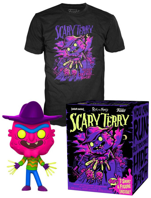 Funko Rick & Morty POP! Animation Scary Terry Exclusive Vinyl Figure & T-Shirt [Large]