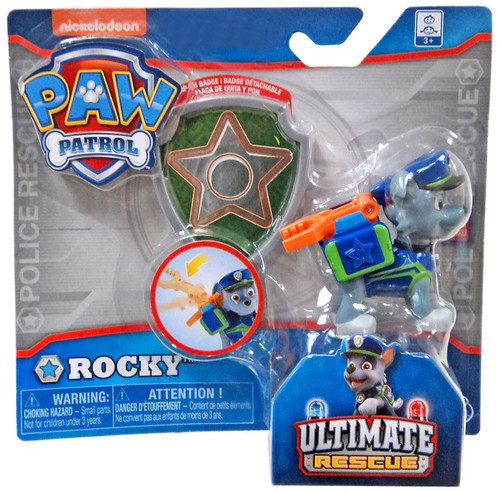 Paw Patrol Ultimate Rescue Rocky Exclusive Figure [Badge]