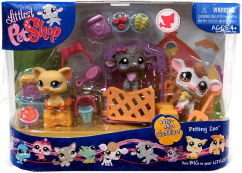 Littlest Pet Shop Cuddliest Pets Petting Zoo Figure Set #475, 476, 477
