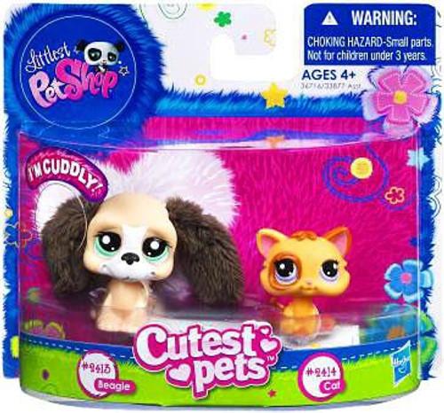 Littlest Pet Shop Cutest Pets Soft Beagle & Cat Figure 2-Pack