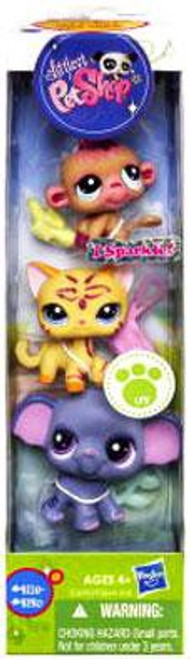 Littlest Pet Shop Orangutan, Cat & Elephant Figure 3-Pack