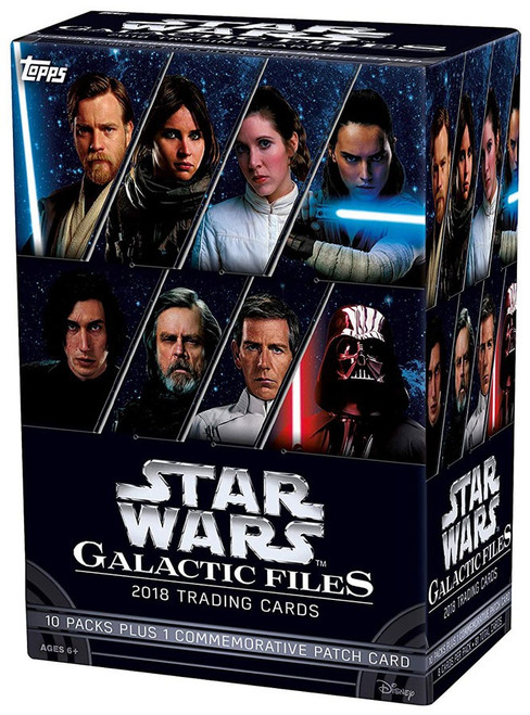 Star Wars Topps 2018 Galactic Files Trading Card BLASTER Box [10 Packs]