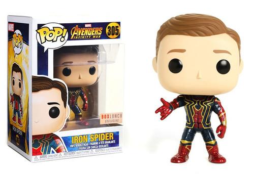 Funko Marvel Universe Avengers Infinity War POP! Marvel Iron Spider Exclusive Vinyl Figure #305 [Unmasked]