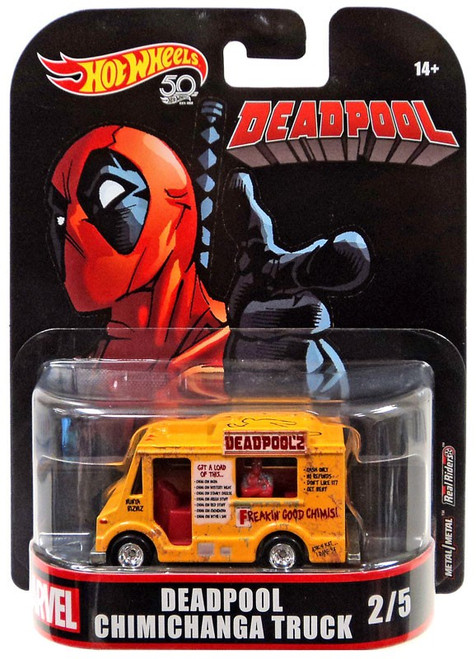 Hot Wheels Marvel Deadpool Chimichanga Truck Diecast Car
